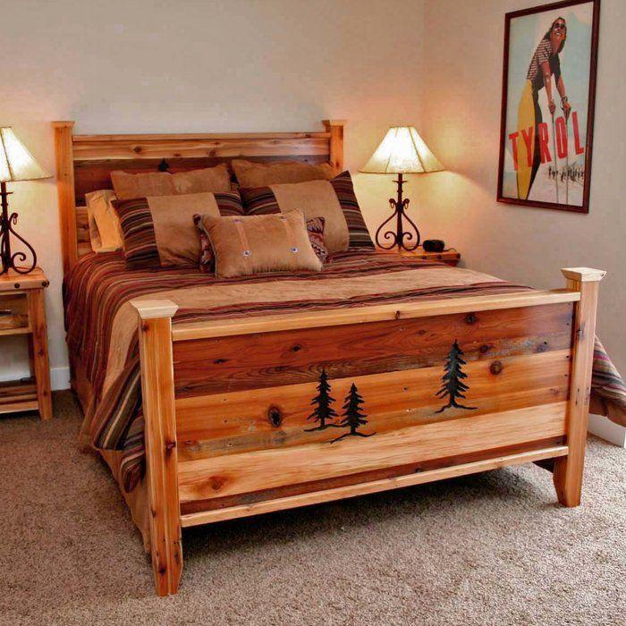 Jorgensen Platform Bed Rustic Bed Frame Rustic Bedroom Furniture Cabin Furniture