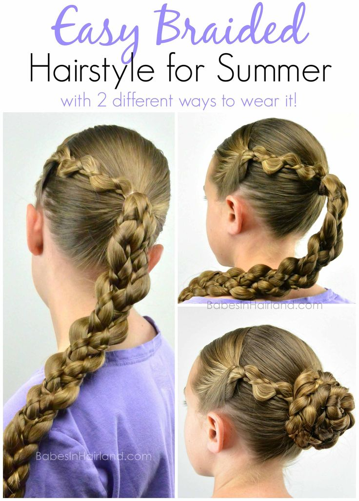 Cute Braid Hairstyles Fair 51 Best Gymnastics Hair Images On Pinterest  Easy Hairstyle