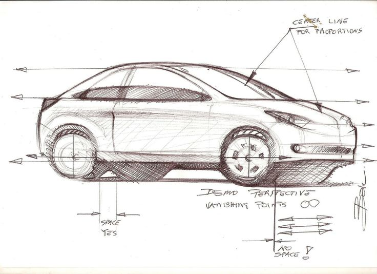 Car Sketch Tutorial Sample Design Education Tips