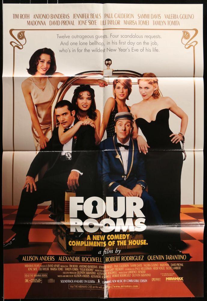 Four Rooms 1995 Original Movie Poster Tim Roth Quentin Tarantino Tim Roth Four Rooms Quentin Tarantino