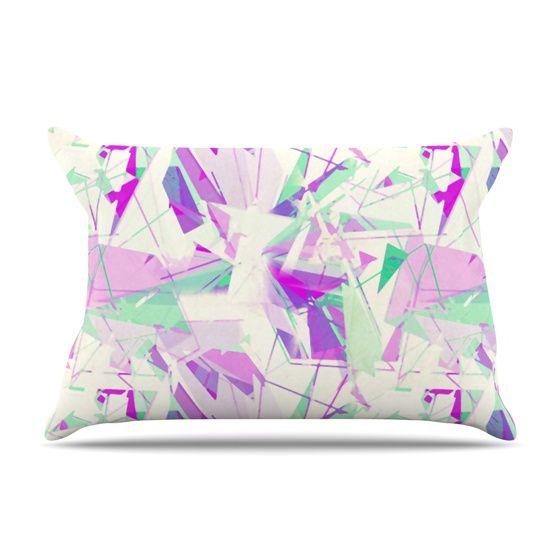 """Alison Coxon """"Shatter Purple"""" Pillow Case"""
