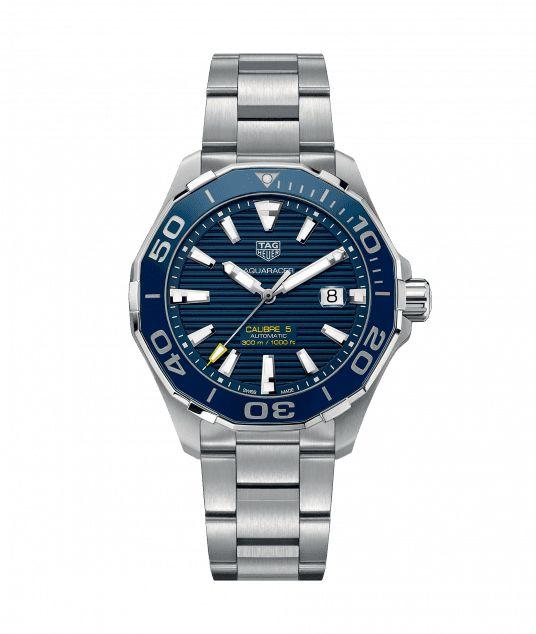 Aquaracer Calibre 5 Automatic Watch 300 M - 43 mm Ceramic Bezel WAY201B.BA0927  TAG Heuer watch price
