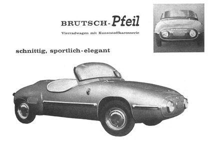 Brütsch Pfeil (Arrow), 1956-1958