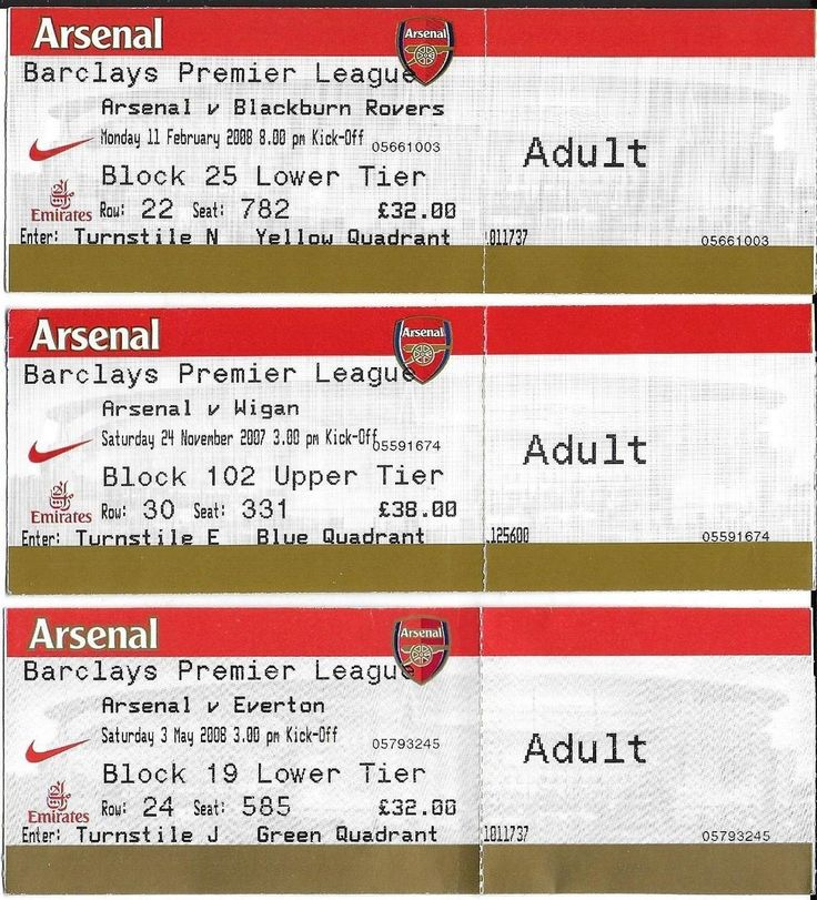 3 #arsenal football tickets 2007-08 #season v blackburn rovers, everton & #wigan,  View more on the LINK: http://www.zeppy.io/product/gb/2/381949805515/