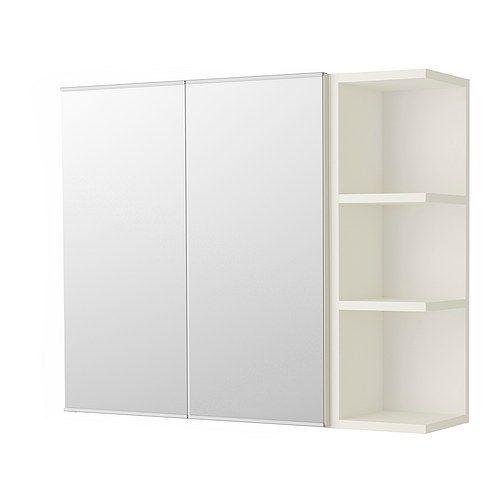 IKEA - LILLÅNGEN, Spiegelkast 2 deur/1 afsluitelement, wit,