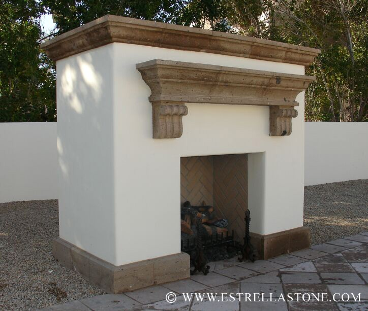 Mortar Outdoor Fireplace Simple Rustic And Beautiful For An Outdoor Space