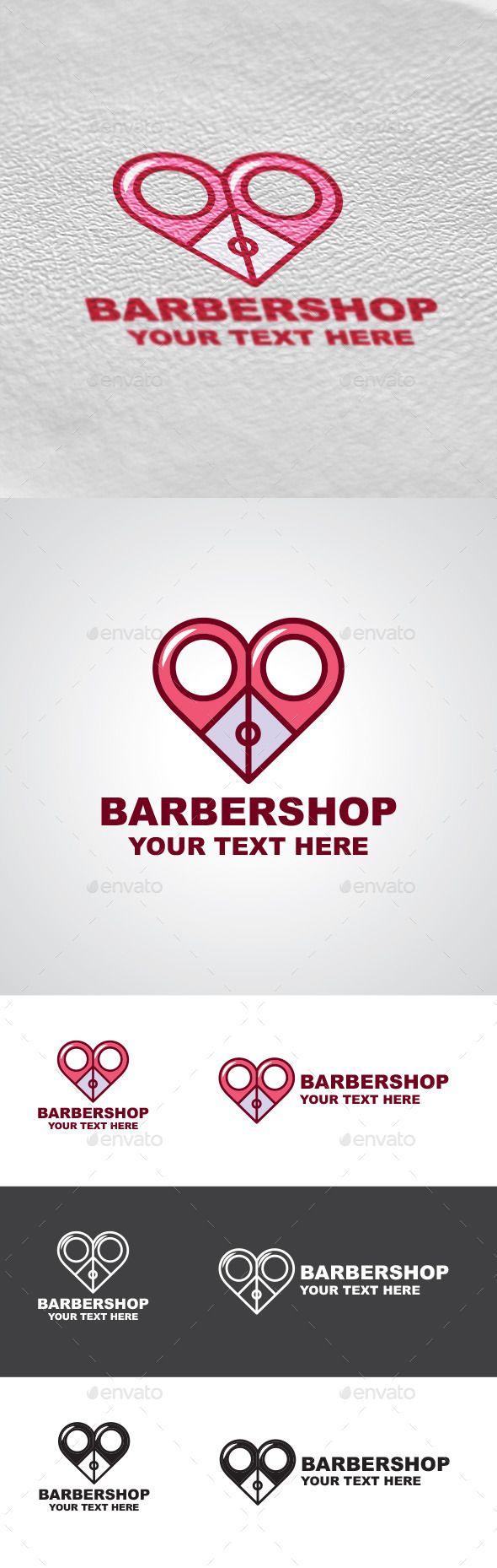 Barbershop Logo Design — Photoshop PSD #haircut #scissors • Available here → https://graphicriver.net/item/barbershop-logo-design/9402986?ref=pxcr