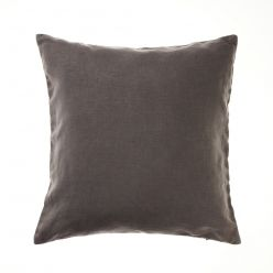Home Republic Vintage Washed Linen Charcoal Cushion, Cushions and soft furnishings from Adairs, discount home accessories