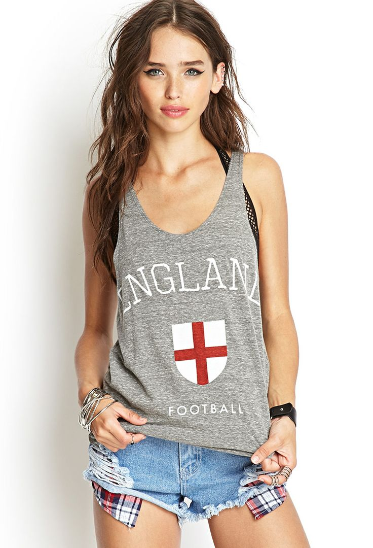 England Football Tank Top   FOREVER21 #F21Score. Can this be mine??