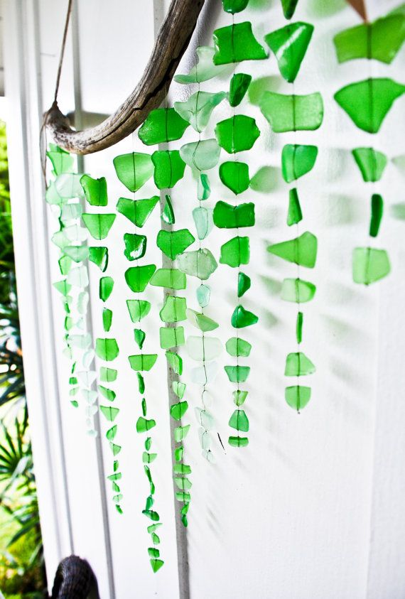 Large Sea Glass Mobile/ Wall Hanging / Rustic by SeaAndGlassOnEtsy, $135.00