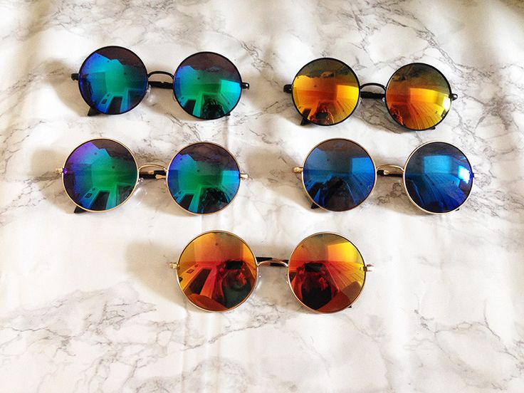 Metal frame oversized round sunglasses. Beautiful mirror revo lenses. Absolutely MASSIVE! Looks just like the one's Janis Joplin wore! Frame Width: 153mm Frame Height: 63mm Lens Width: 59mm 100% UVA/U