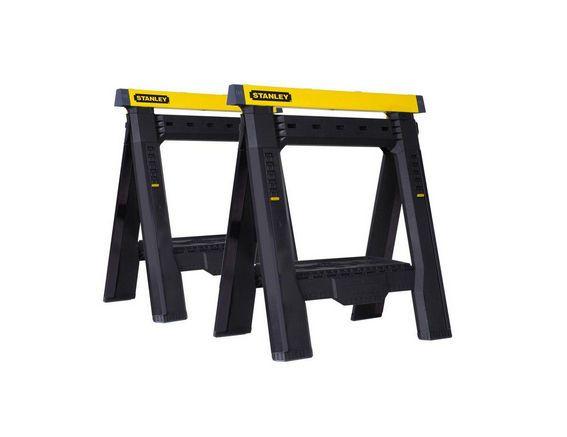 Stanley Adjustable Sawhorses 2-Pack Adjustable Work Stands, STST60626 #Stanley
