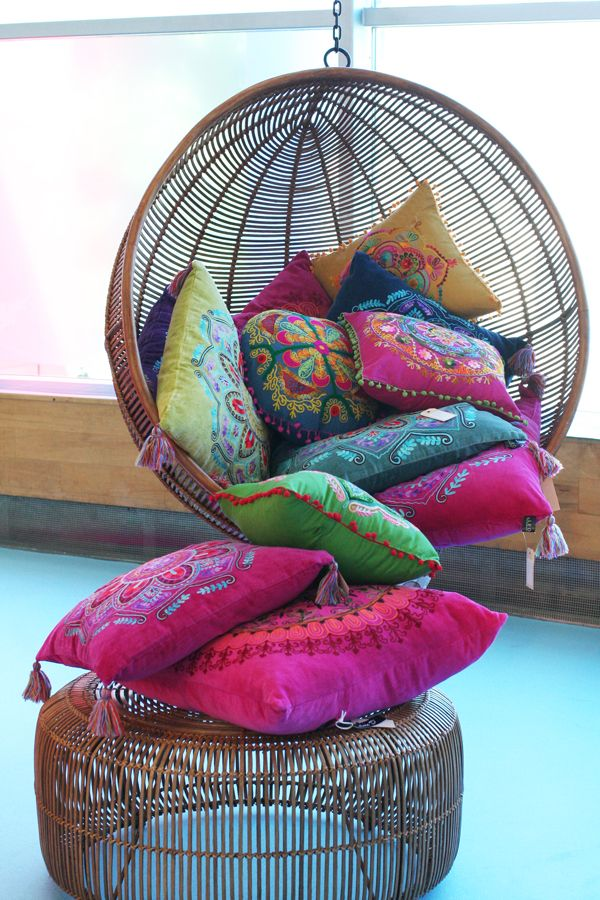 bohemian style furniture. i would so like to have this swing the ottoman and pillow awesome colors find pillows these for living room bohemian style furniture