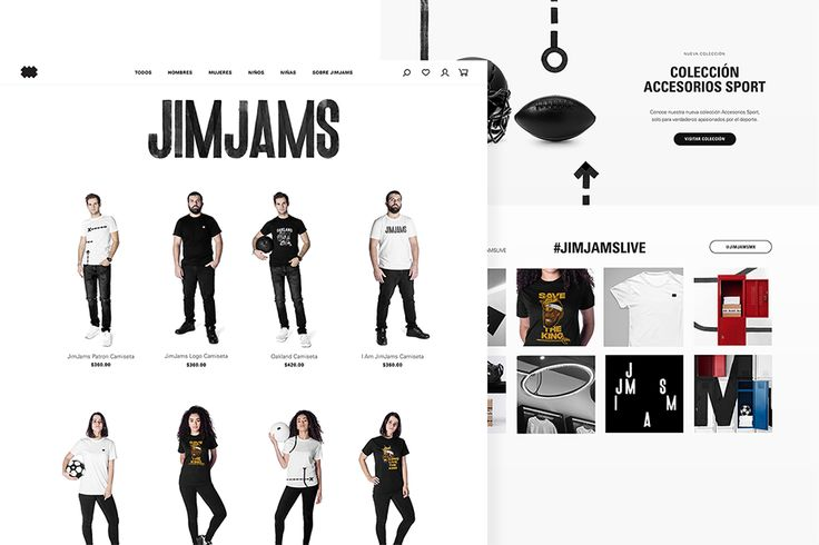 JimJams website. Design by www.anagrama.com