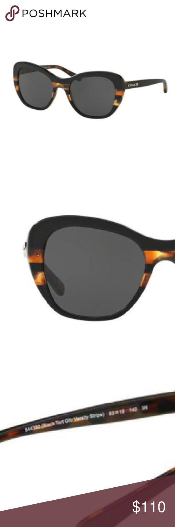 Coach 0HC8204 Tortoise Varsity Stripe Sunglasses Women Coach Tortoise Sunglasses   The Coach Varsity Stripe is in this exclusive custom acetate, an innovative take on tortoise with a dusting of glitter. Bold and retro-inspired, the pair feature scratch-resistant lenses expertly cut to minimize visual distortion, and come packaged in a protective signature case. 100% UV protection. Gradient lenses. Packaged in a protective Coach case with microfiber cleaning cloth. Measurements: Eye Size: 51…