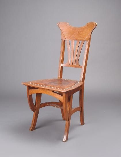 Gustave Serrurier Bovy (1858 1910)   Chair. Oak With Leather Seat