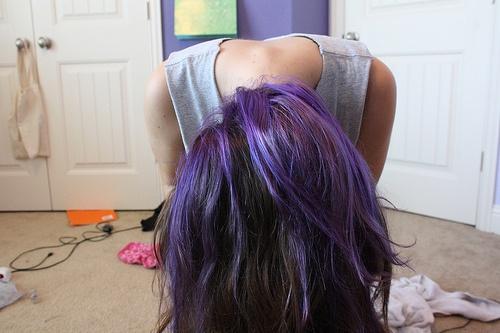 underneath of lavender hair
