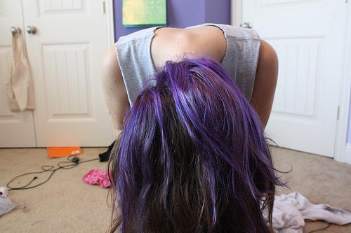 Purple highlights.