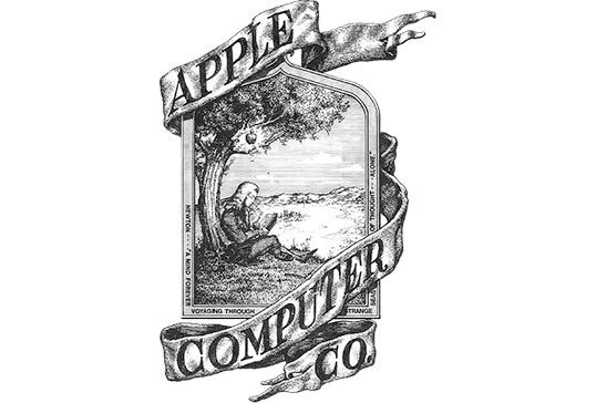 7 tech logos before they became iconic | apple