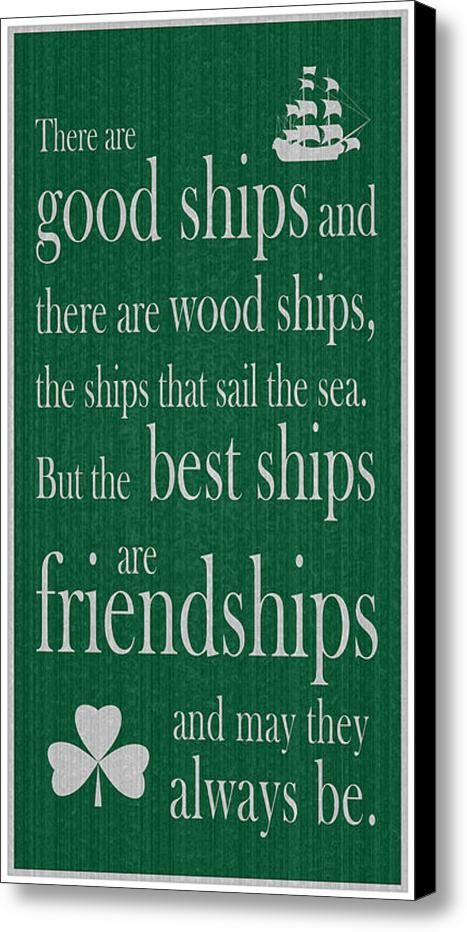 An Irish Toast Canvas Print / Canvas Art By Ireland Calling. Find quality prints and more at the Ireland Calling $tore. Irish Sayings.