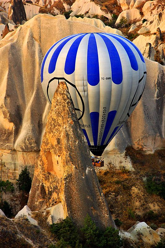 Must-try: A Hot Air Balloon Ride above the spectacular landscape of #Cappadokia. #Turkey #Travel