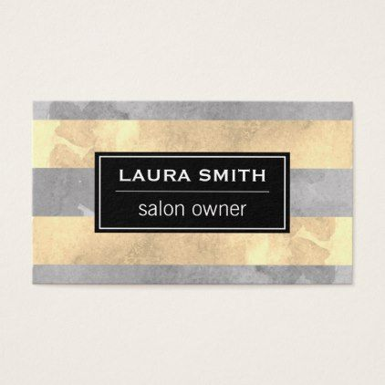 #makeupartist #businesscards - #Watercolor Stripes Business Card