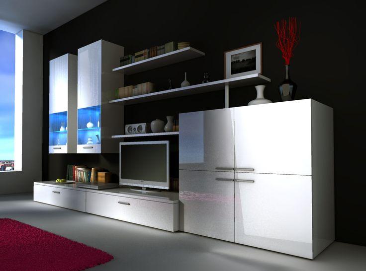 Mueble de sal n de dise o modelo violeta 4 visita http for Muebles de salon de diseno minimalista