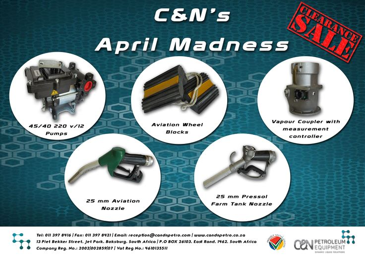 Do you use this equipment? We have it in STOCK NOW! See what other equipment C&N has to offer you!💻 http://candnpetroleum.co.za/Pages/Products.asp