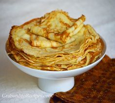 This one is my favorite basic recipe for thin light and delicate crepes. My family and I have been using this simple recipe for many years.