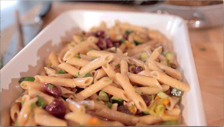 pasta olive, fior di zucca e noci