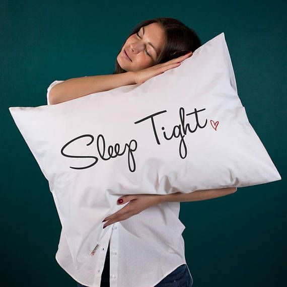 Sleep tight gift Sleeping gift for her Wife gift for boyfriend pillow Sleep pillow for bedroom decor for home Sister gift Housewarming gift (1 piece)   Beautiful, sweet and thoughtful gift idea for your special someone! Perfect for long, cuddly winter evenings! Pillowcases are made