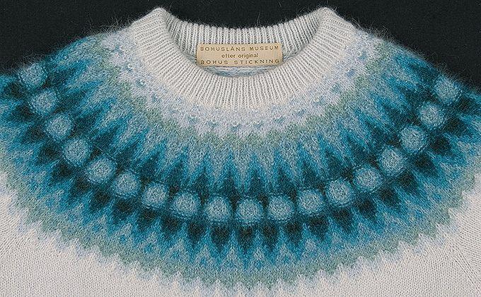 Bild på jumper i mönstret Blå blomman.