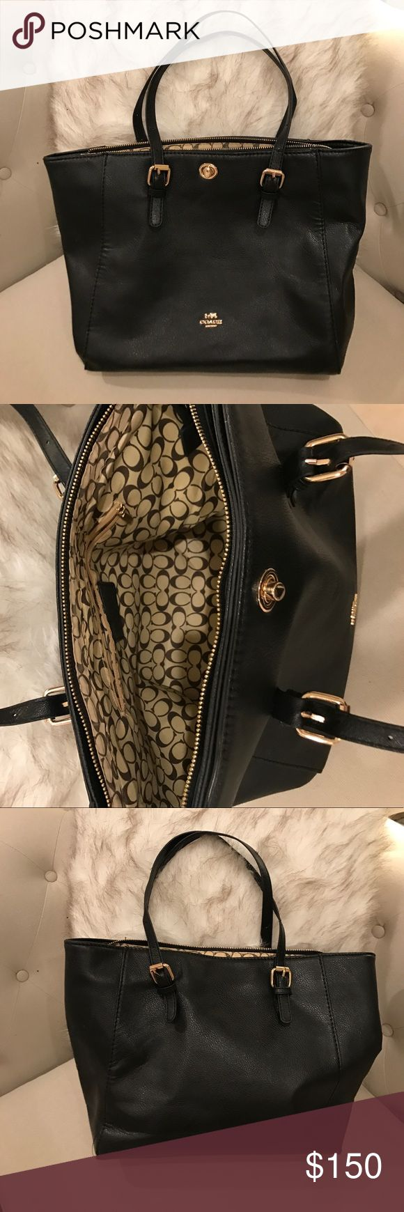 Black coach tote Beautiful and comfortable black coach tote. Never worn❣️perfect condition 👍 Coach Bags Totes