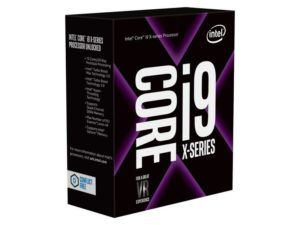 Intel CPU Core i9-7900X 3.3 GHz, Prozessorfamilie: Intel Core i9 (7xxx), Anzahl Prozessorkerne: 10, Taktfrequenz: 3.3 GHz, Verlustleistung (TDP): 140 W, Unlocked, Prozessorsockel: LGA 2066, Fertigungstechnik: 14 nm
