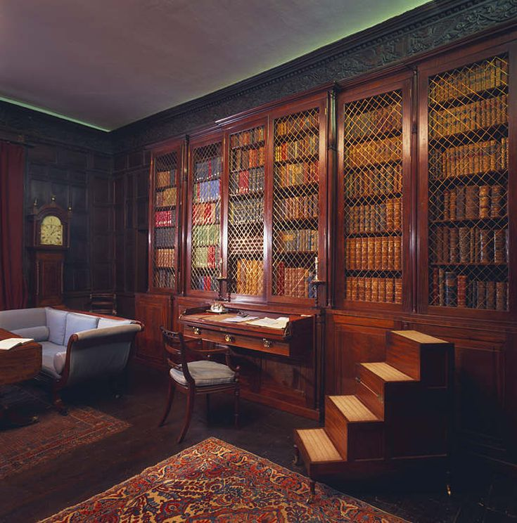 Home Library, Regency Style   Home Library Design And Book Accessories