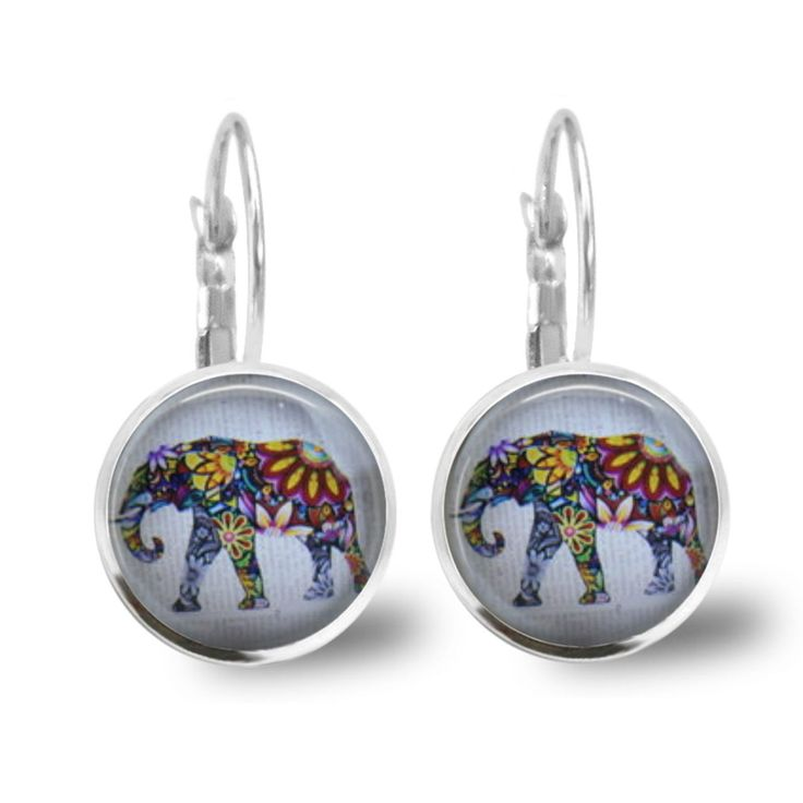 Chatterbox City - Elephant Lever Back Glass Cabochon Earrings, $10.00 (http://www.chatterboxcity.com.au/elephant-lever-back-glass-cabochon-earrings/)