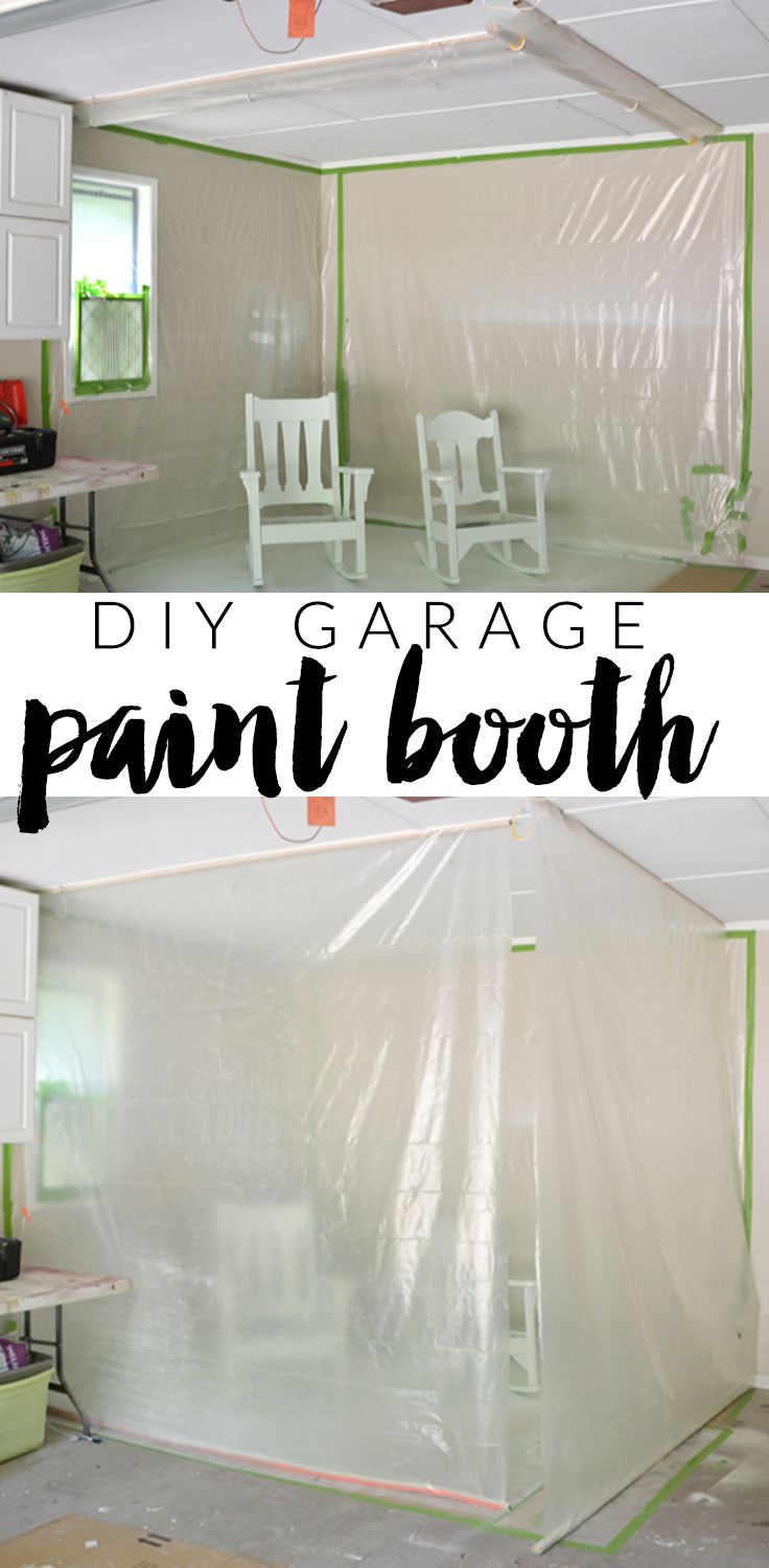how to build a convertible paint booth in your garage!!  easy to clean up, easy to set up.
