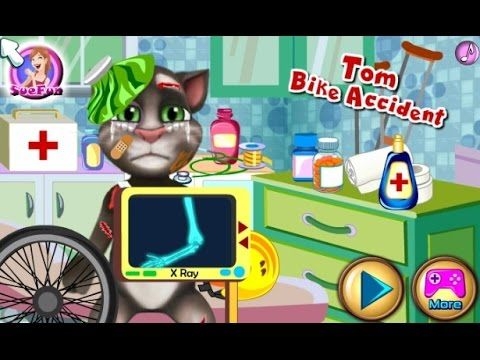 Talking Tom Bike Accident -Game Tutorial 2016