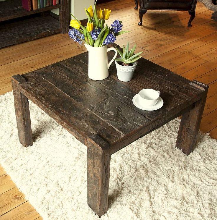 ashburnham sleeper wood square coffee table by little tree furniture | notonthehighstreet.com
