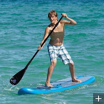 Inflatable Stand-up Paddleboard... just not in shark infested waters....