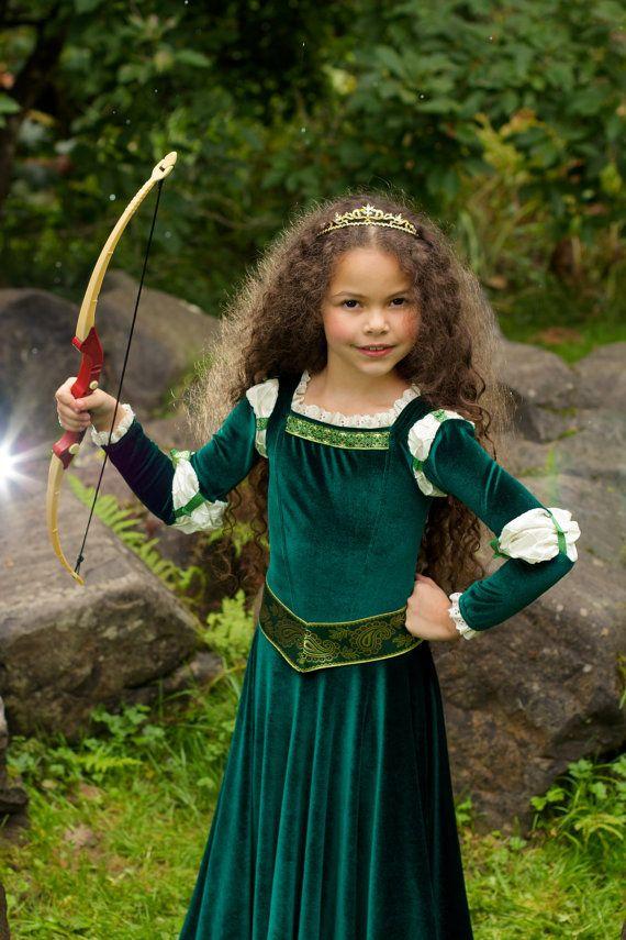 Costume de Merida Brave inspiré robe de princesse par EllaDynae                                                                                                                                                     Plus