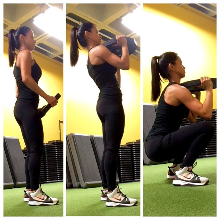 How to improve your front squat form using a basic method of plate work. Learn how to keep your spine neutral, chest up and focus on the glutes with this tip.