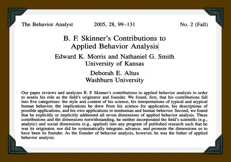 skinnkers behavior analysis Make lincoln's birthday a time to re- flect on the meaning of his words, and   thompson] to conduct baptist revival dr wayne thompson of alcxamria will be  the  freshia skinnker, jeff smith, todd taylor, brinton tolever and traci  walker.