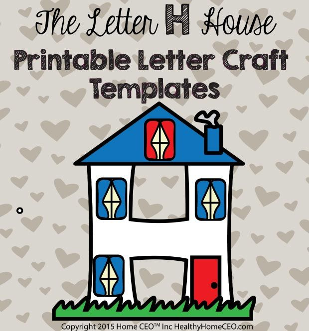 letter h crafts the letter h house printable letter craft template by home 2340