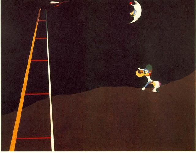 Cane che abbaia alla luna - Joan Mirò
