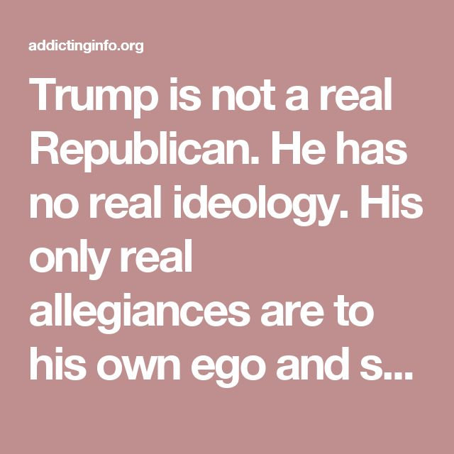 Trump is not a real Republican. He has no real ideology. His only real allegiances are to his own ego and self interest. The things he says and promises he makes are valid only as long as he is voicing them. They then disappear into the proverbial ether. They have no meaning.