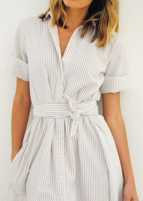 Shirtdress for spring