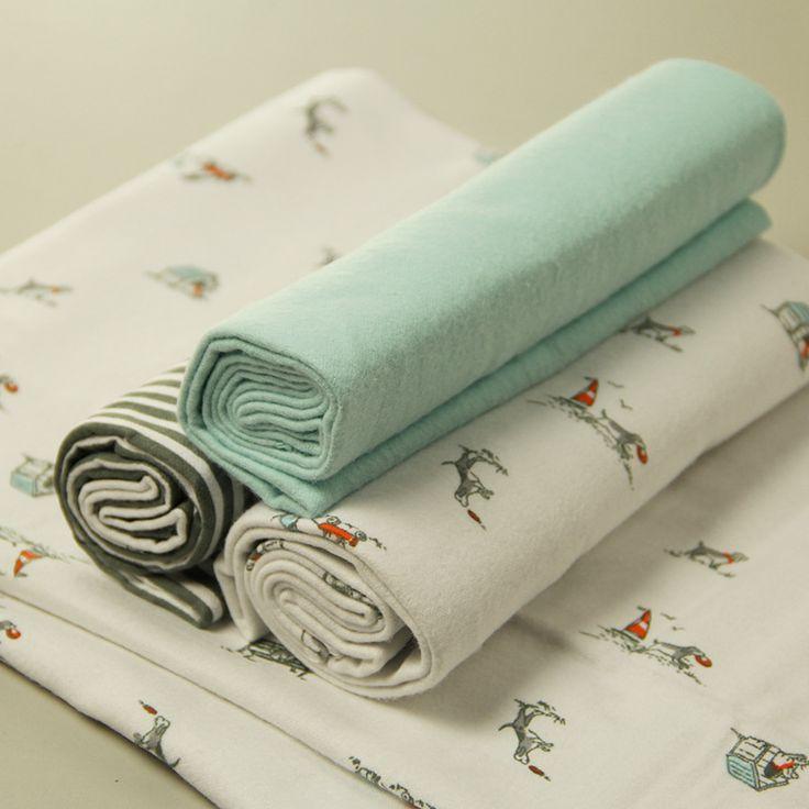 4 stks/set Baby deken baby ontvangen Dekens & Inbakeren voor zuigeling, katoen sheet Pasgeboren Gift Wieg Beddengoed Jongen Meisje Deken