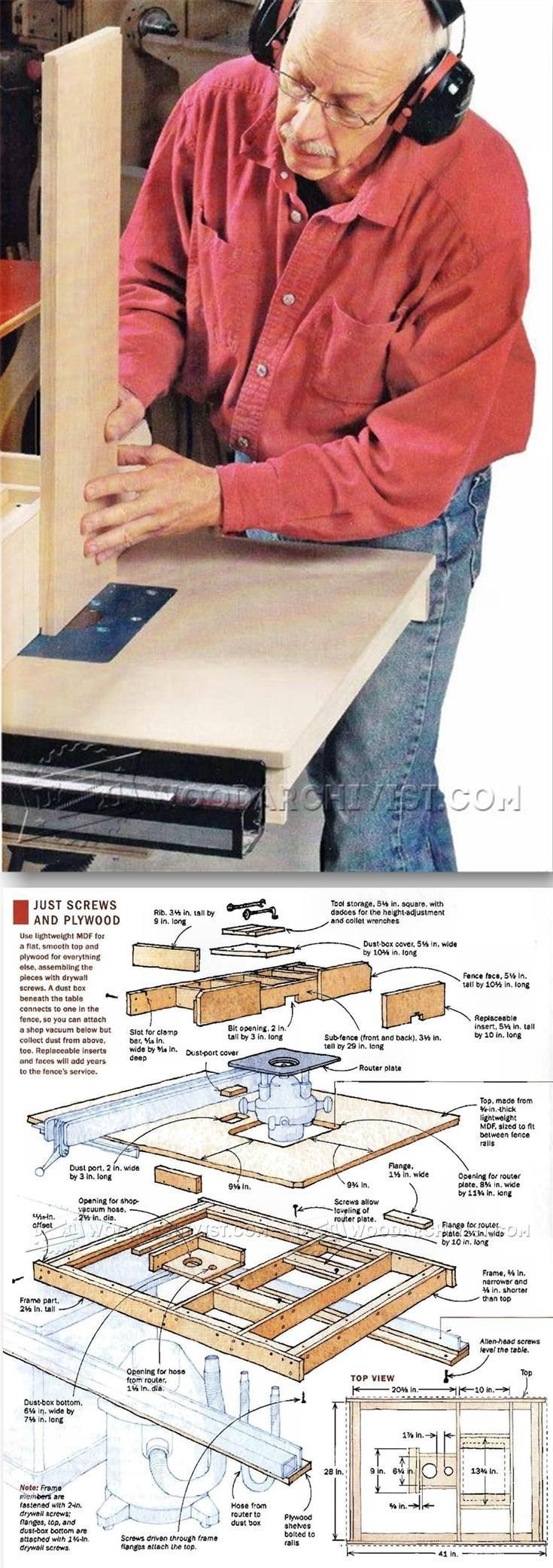 Table Saw Router Table Plans - Router Tips, Jigs and Fixtures | WoodArchivist.com