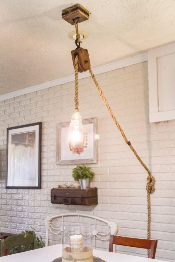 Hey, I found this really awesome Etsy listing at https://www.etsy.com/listing/222186579/pulley-rope-light-with-glass-insulator